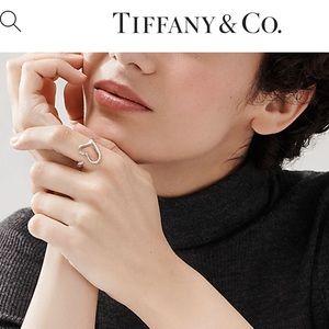 Tiffany open heart ring